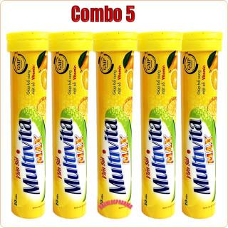 [Combo 5 Tuyp] Viên Sủi Multivitamin Bổ Sung 10 Loại Vitamin Và Khoáng Chất Giúp Tăng Cường Sức Đề Kháng, Tăng Sức Bền Thành Mạch, Tăng Cường Thể Lực, Giảm Căng Thẳng, Mệt Mỏi thumbnail