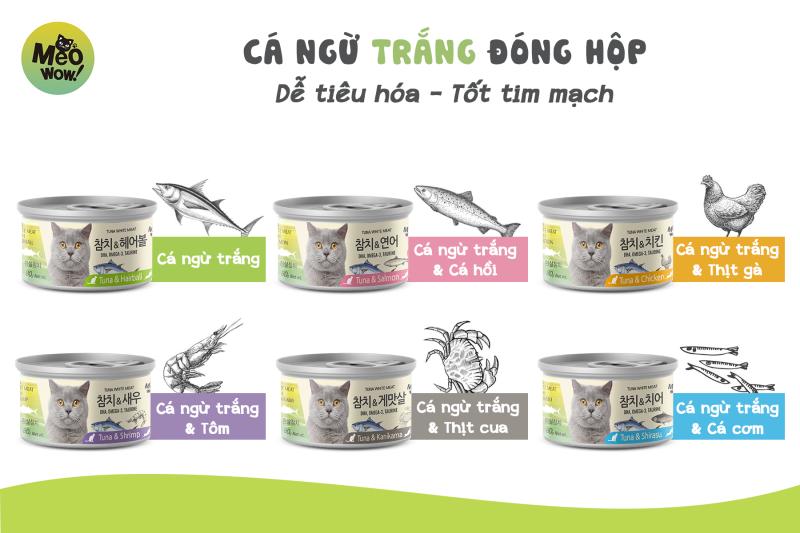 Pate súp cá ngừ phối với nhiều vị khác meowow hàn quốc - cá ngừ tôm