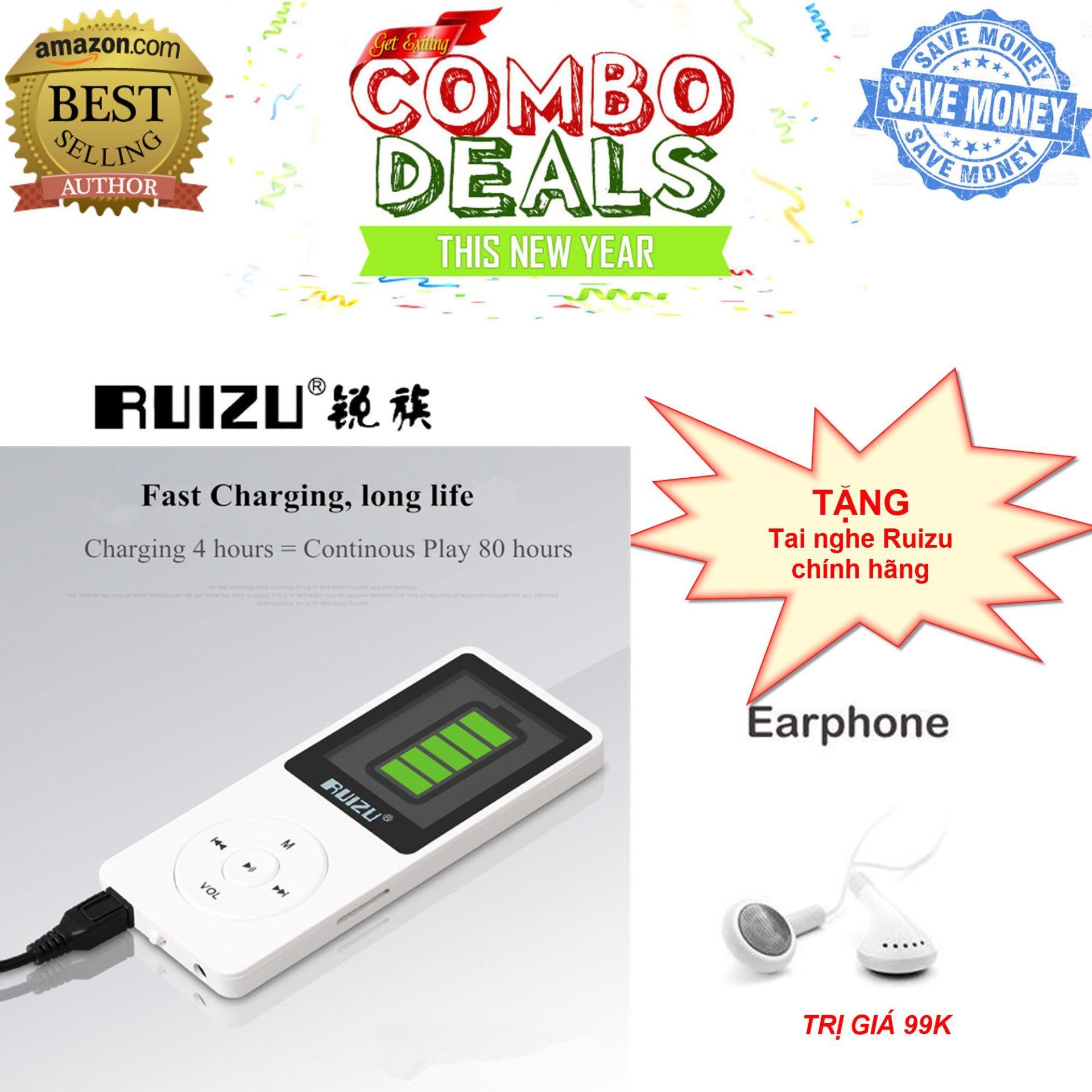 Máy nghe nhạc mp3 RUIZU X02 - Hàng công ty NK và PP - Fullbox - Bảo hành 6 tháng lỗi đổi mới