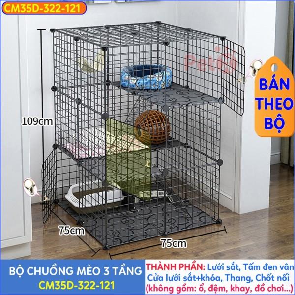 Chuồng Mèo 3 Tầng, 2 Tầng Lưới Sắt Lắp Ghép Đa Năng Nuôi Thỏ, Sóc, Nhím
