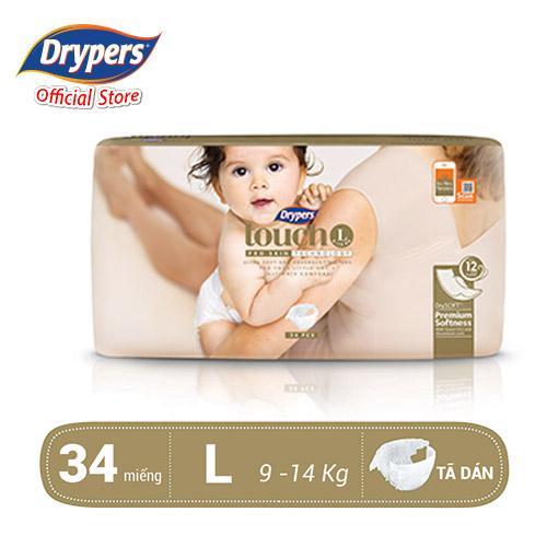 Chương Trình Ưu Đãi cho Tã Dán Drypers Touch L 34P