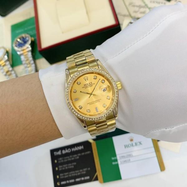 (Thẻ bảo hành 12 tháng)  Đồng hồ nam ROLE - viền đá dây kim loại chống nước - DH501 Shop132 MTP STORE BIỂU