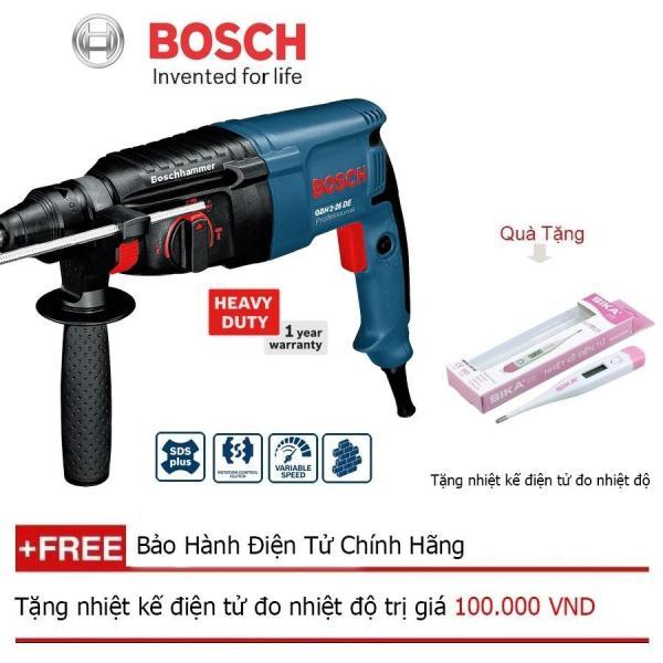 Máy khoan búa Bosch GBH 2-26 DE Professiona + Quà tặng nhiệt kế điện tử