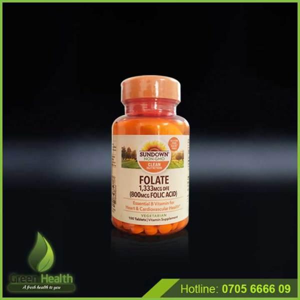 Folic acid hỗ trợ mọc râu, tóc giá rẻ