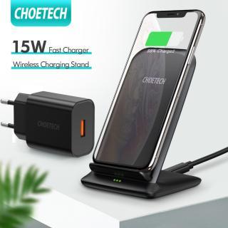 [Hot deal] Bộ sạc không dây nhanh CHOETECH 15W với Đế sạc bộ chuyển đổi QC 3.0 cho iPhone Samsung Galaxy Note HUAWEI LG và Sony thumbnail