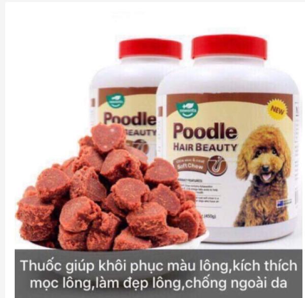 Combo 5 viên Poodle Hair Beauty - Viên dưỡng mượt lông, giữ màu, màu lông cho chó Poodle