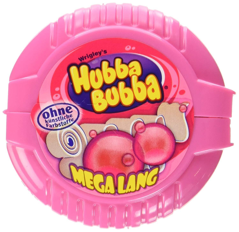 Kẹo gum ( cao su ) cuộn Hubba Bubba mega lang dài 180cm vị Cam ( Mẫu mới - Nội địa Gemany - Xách tay Đức )