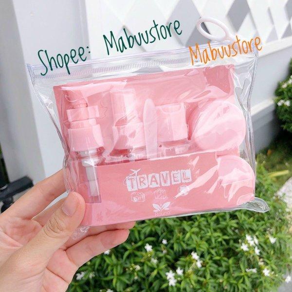 Bộ chiết mỹ phẩm mới cho nữ- bộ 5 chi tiết kèm túi giá rẻ