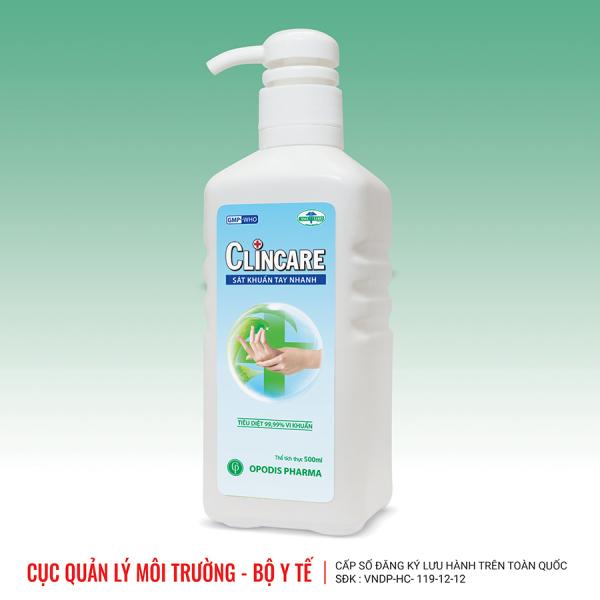 Nước rửa tay sát khuẩn khô nhanh Clincare 500 ml giá rẻ