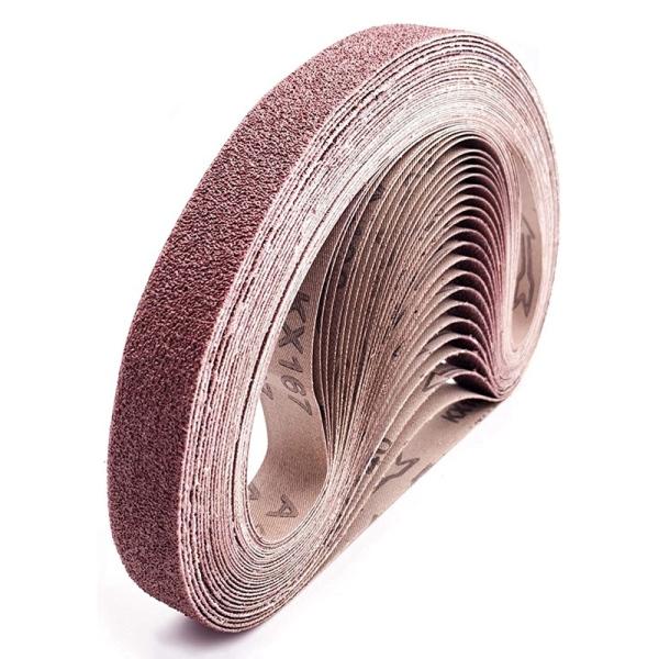 28 Pcs Sanding Belts 1X30-Inch Sanding Belt Aluminum Oxide Belt Sander Paper (4 Each of 40/60/80/120/180/240/400 Grits)