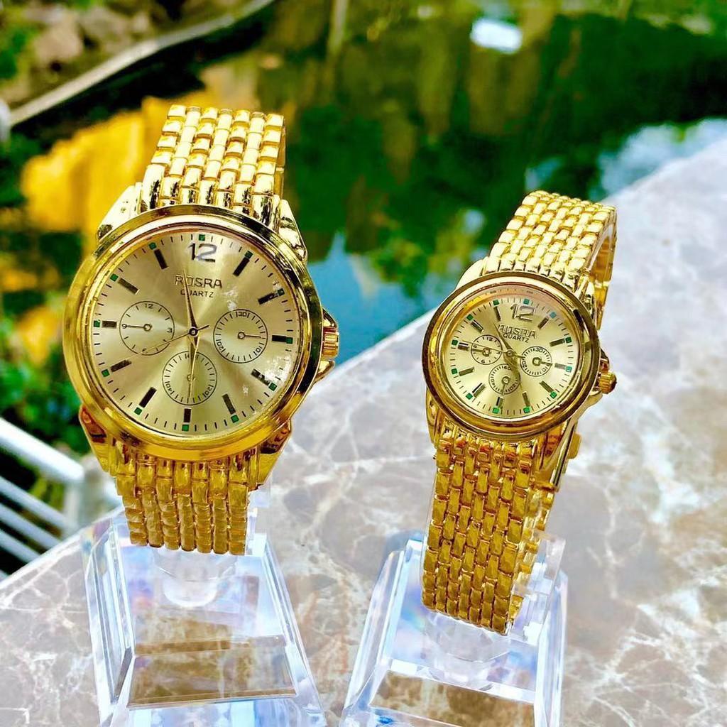 Đồng Hồ Thời Trang Nam Nữ Rosra Full Vàng Dây Nhuyễn MS005 Giá Siêu Rẻ