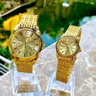 Đồng hồ thời trang nam nữ Rosra full vàng dây nhuyễn MS005 thumbnail