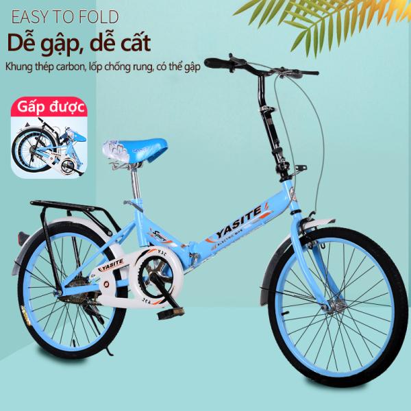 Mua Xe đạp 20 inch có thể gấp gọn 2 màu xanh lam xanh lá xe đạp cho thanh niển, người già (Giá sản phẩm đang bán không bao gồm phí lắp đặt)Keep Going Max