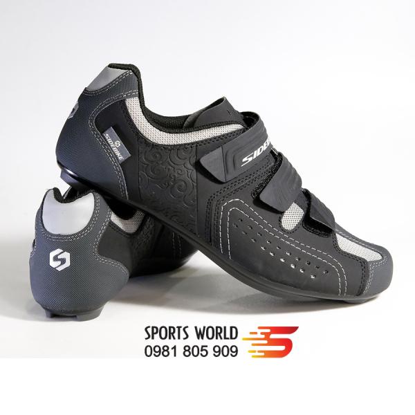 Giày cá xe đạp thể thao dòng Road SD-013 SIDEBIKE (đen Xám) -- SPORTS WORLD SHOP