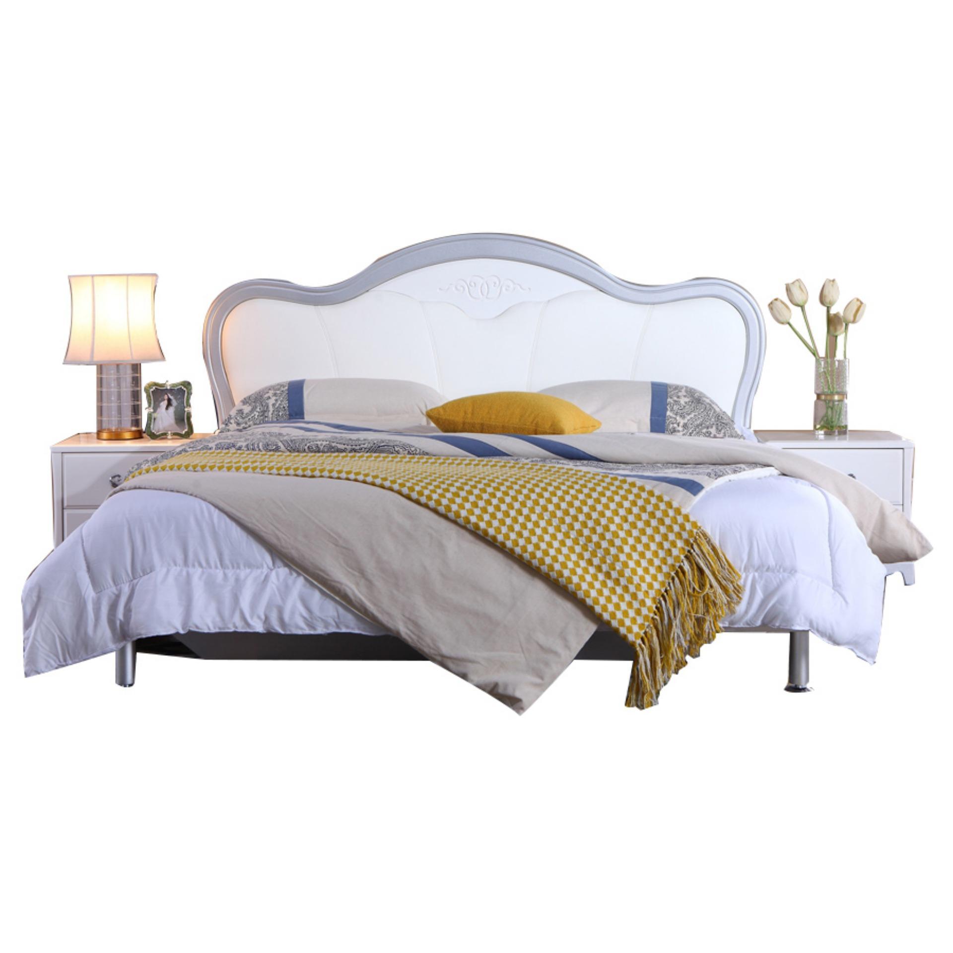 Giường phòng ngủ Nội Thất Xanh Nhập Khẩu QU G72631-1 (1m8)