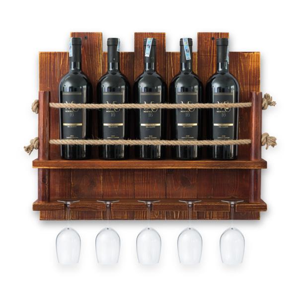 Kệ Rượu Treo Tường KR05