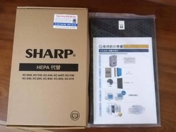 Màng lọc Hepa + Màng Than hoạt tính/ Phổi máy lọc không khí + Màng khử Mùi/ Màng giấy lọc bụi Máy Lọc không khí Sharp Nhật