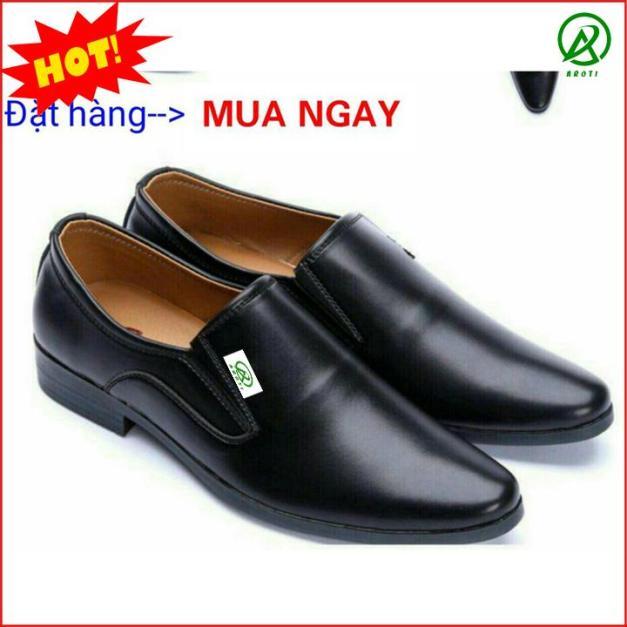 Giày da nam công sở thanh lịch, nhã nhặn màu đen nhám hot 2019 M519 đường chỉ khâu tinh tế sắc sảo giá rẻ