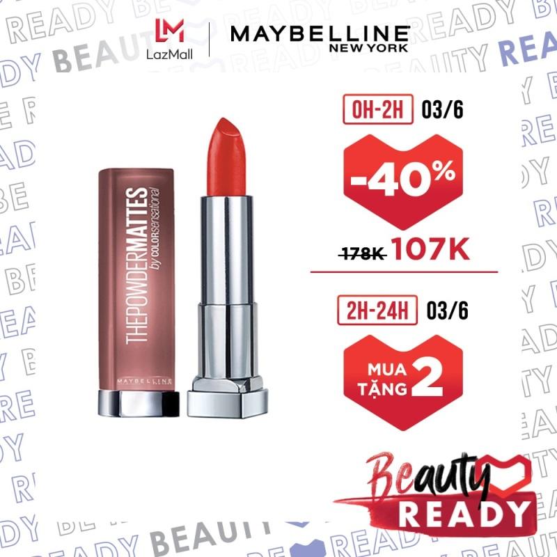 Son Lì Nhẹ Môi Dưỡng Môi Maybelline New York Color Sensational The Powder Mattes Lipstick 3.9g giá rẻ