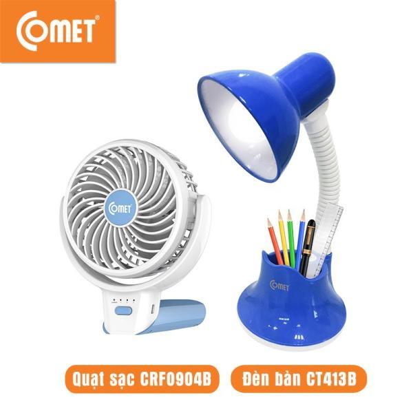 Combo cho Mẹ và Bé: Quạt sạc cầm tay mini COMET CRF0904 & Đèn bàn led COMET CT413 thiết kế hiện đại,thuận lợi di chuyển, tiết kiệm năng lượng, Pin Lithium, bảo về mắt