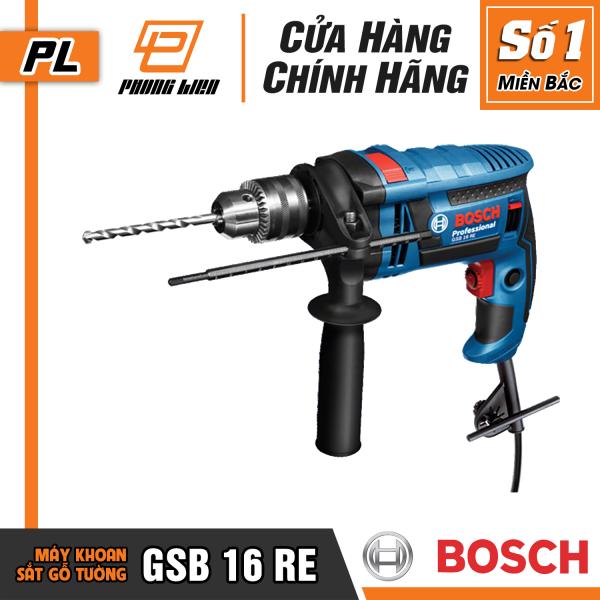 [Chính Hãng] Máy Khoan Động Lực Bosch GSB 16 RE (16MM-750W) - Khoan Được Tường