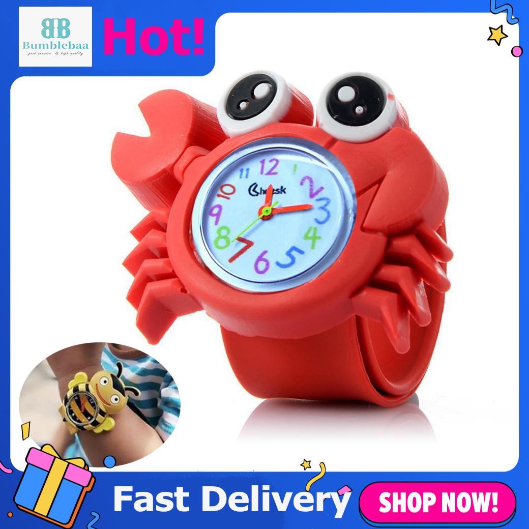 Bumblebaa Đồng hồ hình động vật siêu dễ thương bằng silicone mềm dành cho trẻ em làm quà tặng - INTL