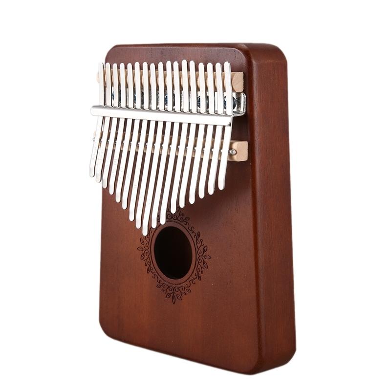 17 Keys Kalimba Piano Mahogany Musical Instrument