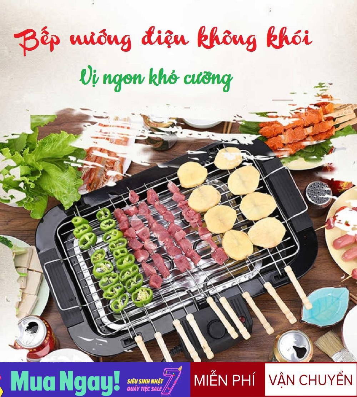 Bếp Nướng Điện, Bếp Nướng Điện Không Khói EB - 165 Công Suất 2000W BH 1 Đổi 1 Tại BANGGOOD88