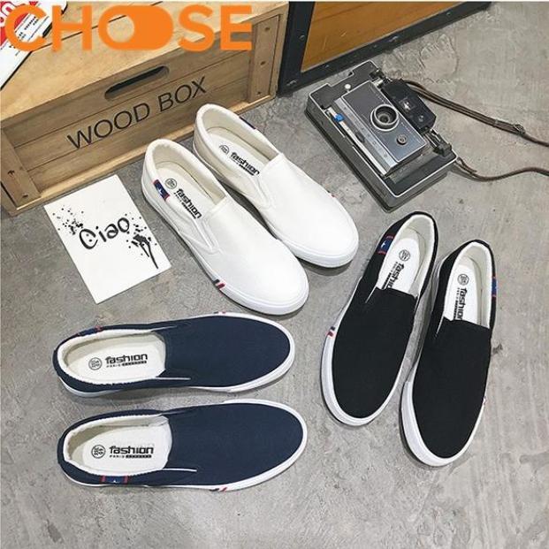 Giày Lười Vải Nam Ngôi Sao Sọc Xanh Đỏ Đế Đúc CAo Su Cực Bền Cực Nhẹ 2802 giá rẻ