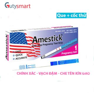 Que thử thai Amestick cho kết quả nhanh và cực chính xác, đạt tiêu chuẩn xuất khẩu - Hộp 1 que và cốc thử - Guty Smart thumbnail