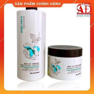Bộ dầu gội ủ ELGON Sublimia hair DD siêu phục hồi tóc hư tổn Ý 750ml thumbnail