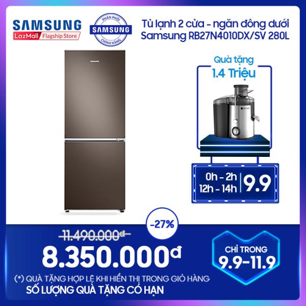 [FREESHIP 500K] Tủ lạnh hai cửa Ngăn Đông Dưới Samsung 280L với công nghệ Digital Inverter tiết kiệm điện năng – RB27N4010DX/SV