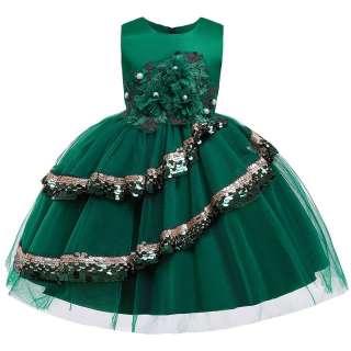 Váy Bé Gái Hoa MQATZ Váy Dạ Hội Sinh Nhật Váy Trẻ Em Váy Công Chúa Quần Áo Bé Gái ĐẦM CƯỚI Dự Tiệc Trang Trọng 3-10 Năm L5148