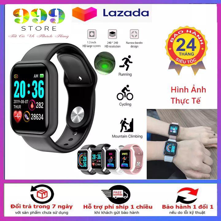 Đồng hồ thông minh Y68, đồng hồ thông minh kết nối bluetooth, đồng hồ thể thao theo dõi sức khỏe, giấc ngủ, đo nhịp tim, đo lượng calo khi chơi thể thao