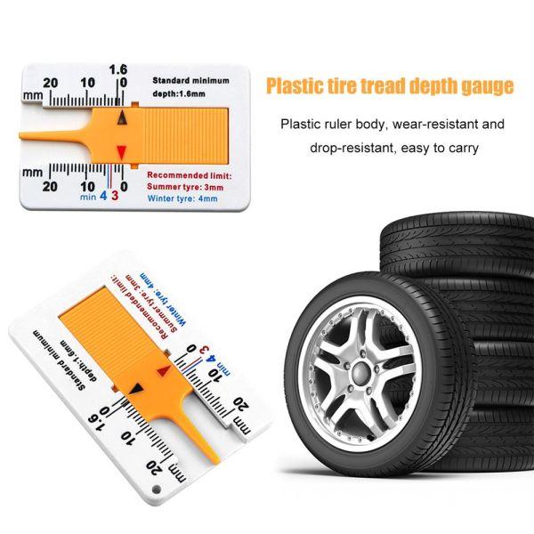 QUANLAO Xe máy Cầm tay Phụ kiện xe hơi Công cụ đo bánh xe Cung cấp đo lường Công cụ đánh dấu Độ sâu lốp xe ô tô Chỉ báo độ sâu Thước đo độ sâu mẫu lốp Đo độsâu