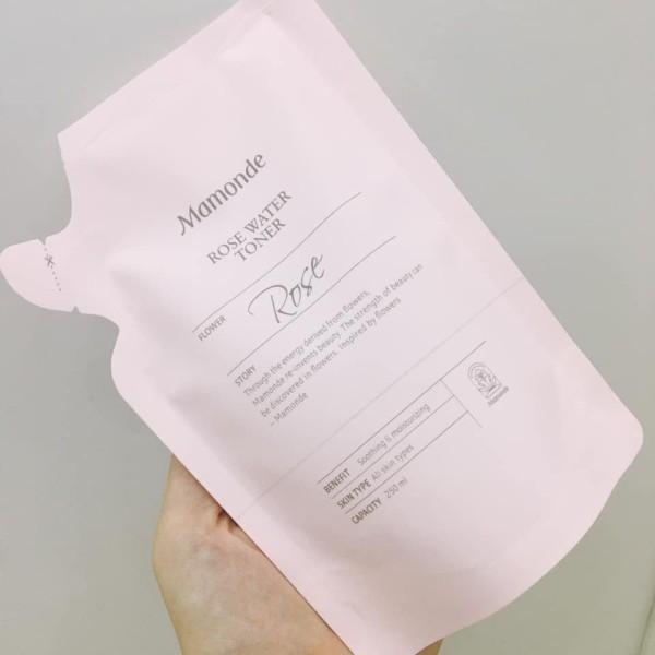 Nước Hoa Hồng Dưỡng Ẩm Mamonde Rose Water Toner 250ml Dạng Túi