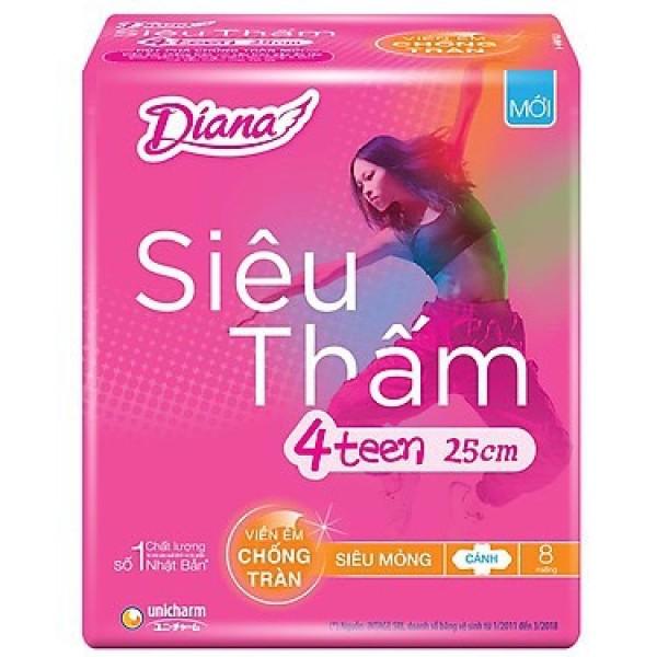 [MẪU MỚI] Băng Vệ Sinh Diana siêu thấm 4teen 23/25cm - 4 Teen 23cm giá rẻ