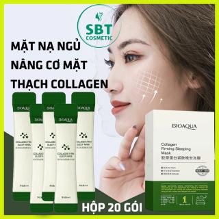 [Nâng Cơ Mặt] Hộp 20 Gói Mặt Nạ Ngủ Thạch Collagen Bioaqua-Giúp Nâng Cơ Mặt, Bổ Sung Collagen, Săn Chắc Da thumbnail