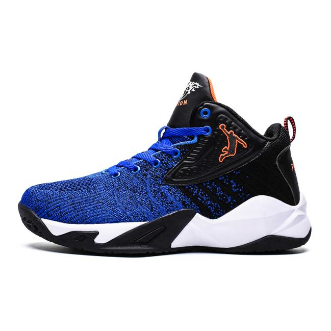 Giày Sneaker nam - Giày bóng chuyền nam HAMISHU, giày thể thao chơi bóng rổ HAMISHU cao cấp, giày HAMISHU, giày bóng chuyền HAMISHU, dệt lưới thoáng khí, màu xanh đen, đế cao su tổng hợp tạo rãnh an toàn cho các hoạt động thể thao giá rẻ