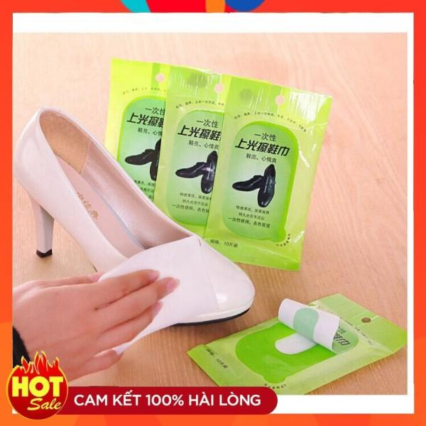 Giá bán Gói 10 khăn Lau giày sáng bóng không cần xi