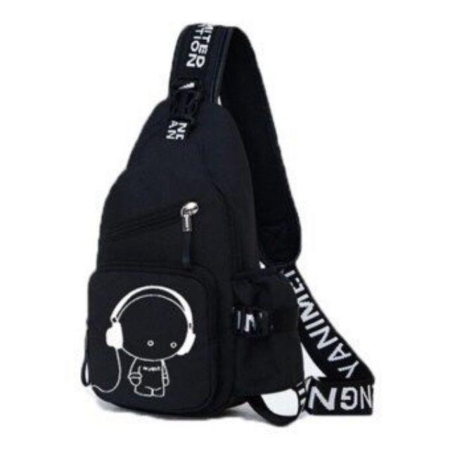 |HàngVIP| Túi đeo Chéo Nhóc Music Phong Cách Hàn Quốc GSS-8046 Chất Liệu Bố Cao Cấp Thiết Kế Hiện đại Trẻ Trung Năng động Phù Hợp Cho Tuổi Teen Thích Hợp Cho Cả Nam Và Nữ (Ảnh Thật 100%) Duy Nhất Khuyến Mại Hôm Nay
