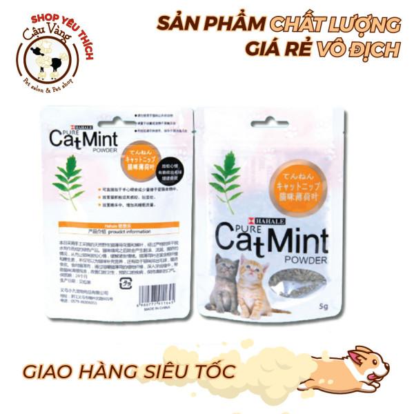 Cỏ Bạc Hà Cho Mèo - CATNIP - Gói 5g - Giúp mèo thư giãn, tiêu hóa tốt