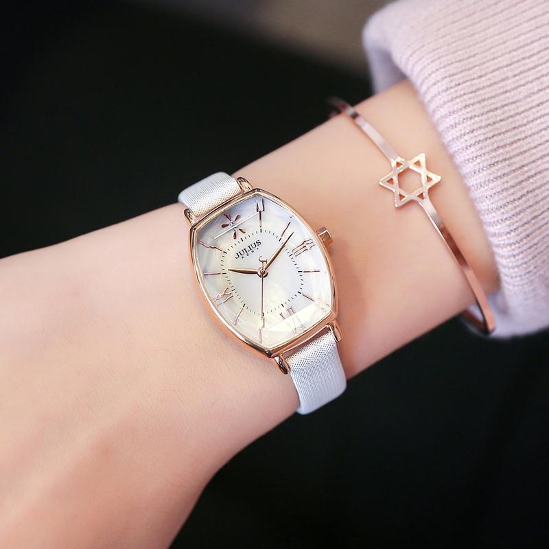 Đồng hồ nữ Ja-920 Julius Hàn Quốc dây da