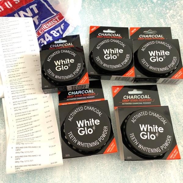 [HCM]BỘT TRẮNG RĂNG - Than Hoạt Tính của WHITE GLO HŨ 30G giá rẻ