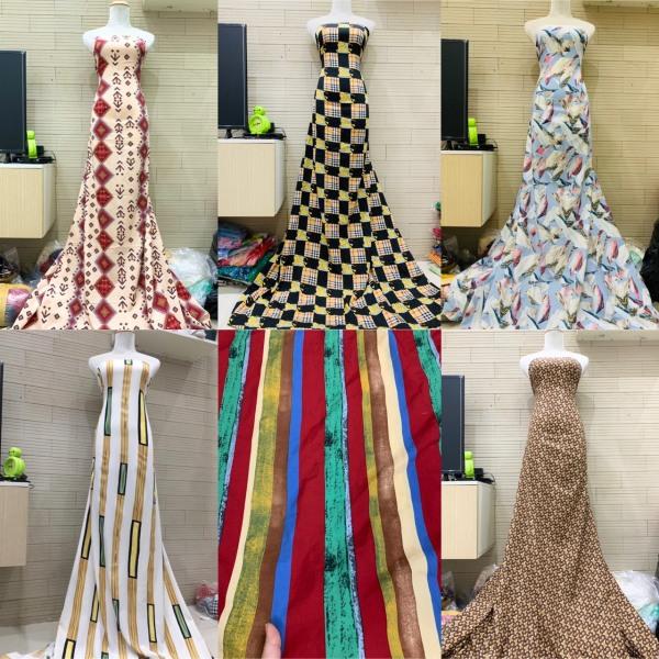 (Xả hàng) 1m và 1,5m vải lụa hàn châu mềm rũ co giãn may không cần lót