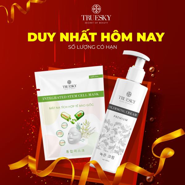 [MUA 1 TẶNG 1] Kem tan mỡ bụng Truesky Premium chiết xuất quế gừng phiên bản cao cấp 200ml - Slimming Cream
