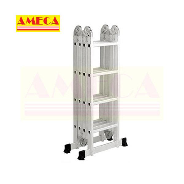 Thang Nhôm Gấp Đa Năng 4 Bậc 4 Khúc Ameca AMC-M204 tải trọng 150kg sử dụng nhiều kiểu dáng