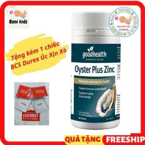 hàu biển Úc Goodhealth Oyster Plus Zinc 60 v