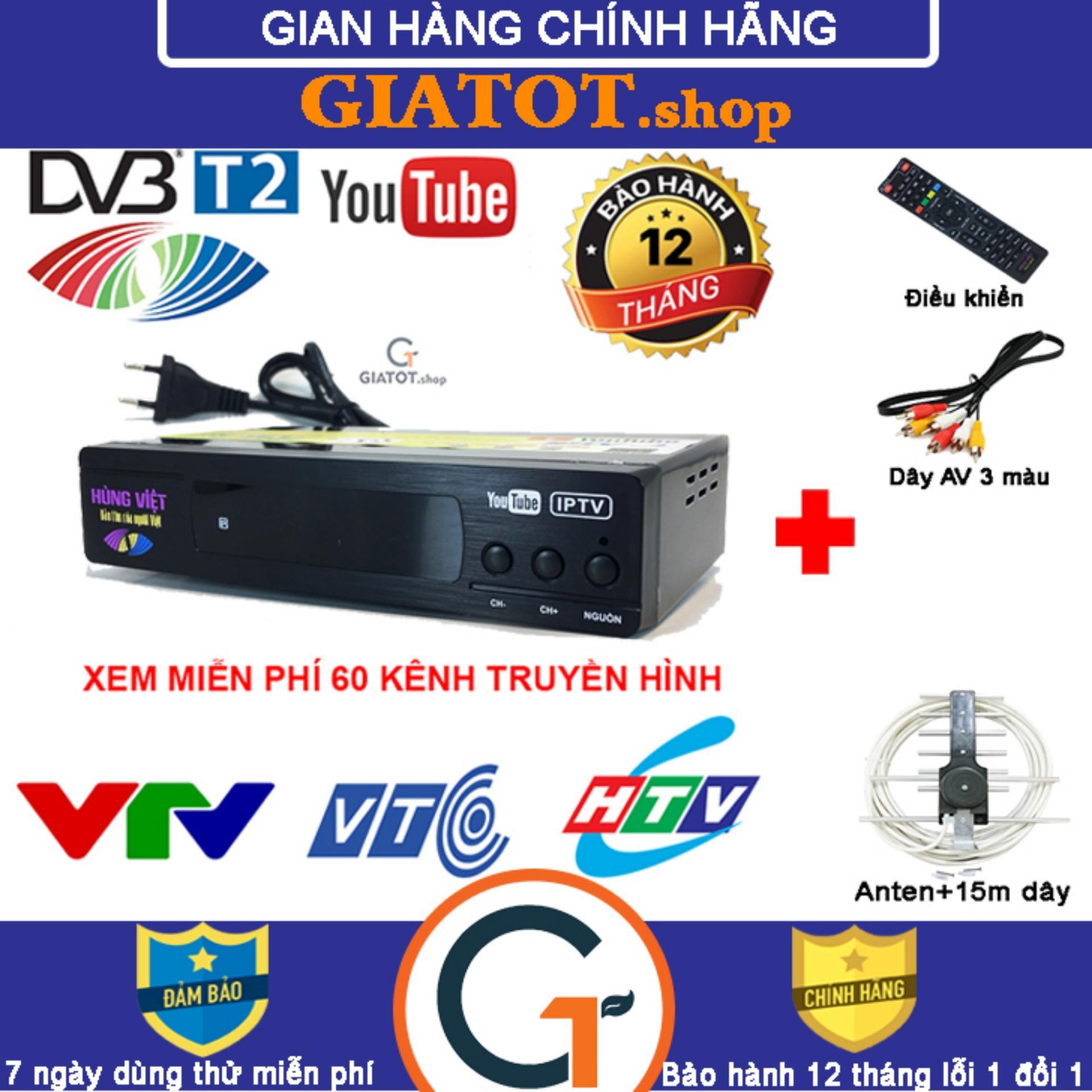 Voucher Khuyến Mãi Đầu Thu Kỹ Thuật Số DVB T2 HÙNG VIỆT TS-123 Internet & Bộ Phụ Kiện