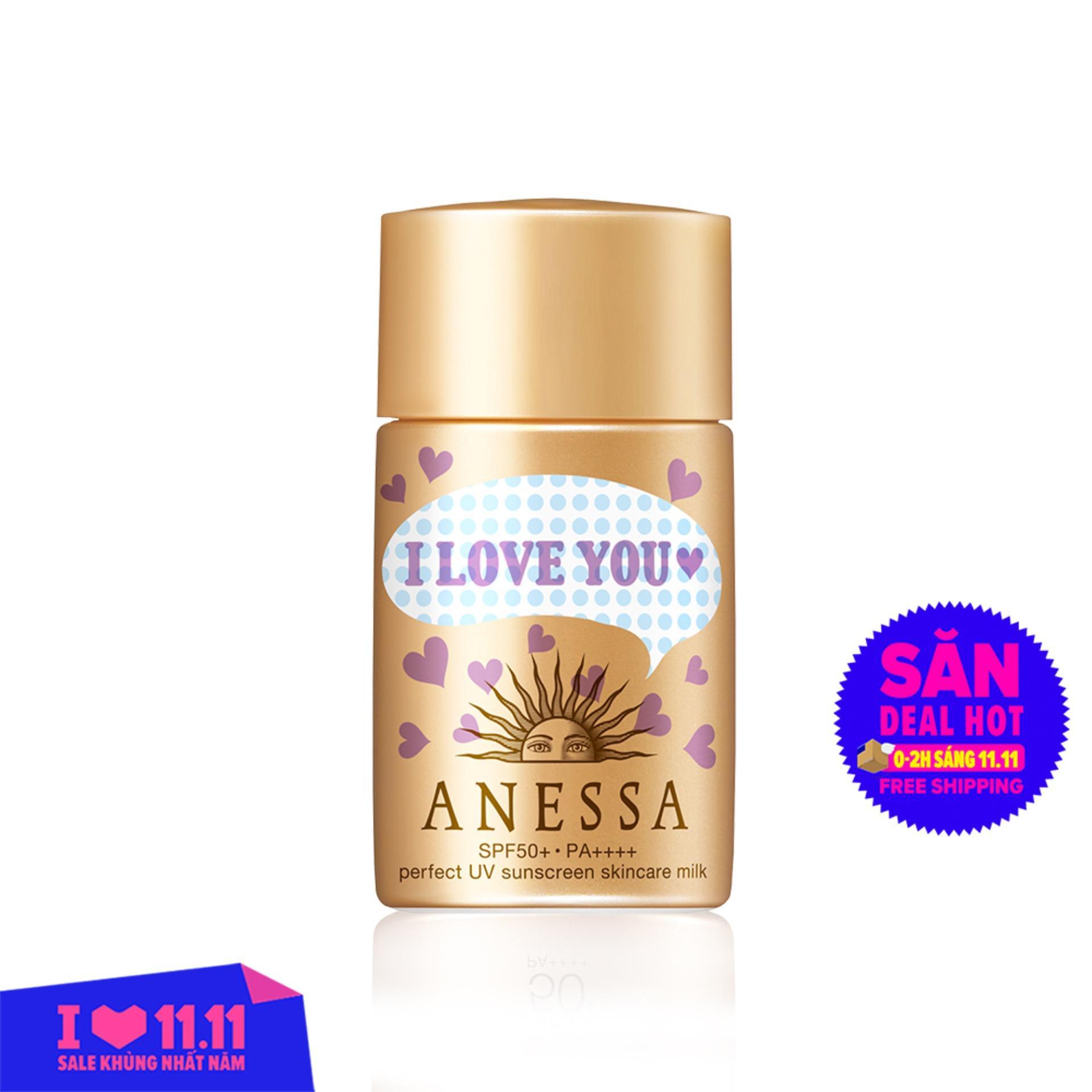 Kem chống nắng dưỡng da dạng sữa bảo vệ hoàn hảo Anessa Perfect UV Sunscreen Skincare Milk 20ml [Phiên bản giới hạn] tốt nhất